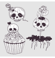 Cute tattoo skulls vector image