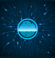 cyber security fingerprint scanning vector image
