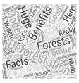 Deforestation Facts And Myths Word Cloud Concept vector image vector image