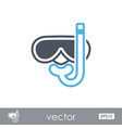 diving mask outline icon summer vacation vector image vector image
