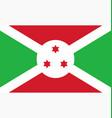 flag burundi vector image
