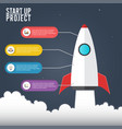 flat concept of business project startup vector image vector image
