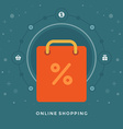 Flat design business concept On-line Shoppin vector image vector image