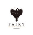 flying magical fairy logo vector image vector image