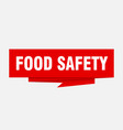 food safety vector image vector image