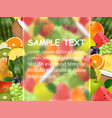 fruit background frosted glass vector image vector image