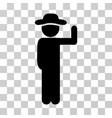 gentleman vote icon vector image vector image