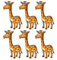giraffe with different emotions vector image vector image