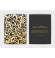 gold greeting card on a black background luxury vector image vector image