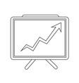 growing chart presentation icon vector image vector image