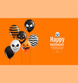 halloween banner ghost scary spooky air vector image vector image