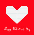 happy valentines day sign symbol notebook line vector image vector image