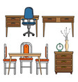 home furniture design vector image
