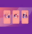 human relations loving couple giving gifts mobile vector image