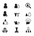 human resource management icons set vector image vector image