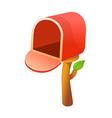 icon mail box vector image vector image