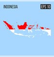 indonesia map border with flag eps10 vector image vector image