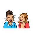 joyful girlfriends women laugh isolate on white vector image vector image