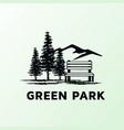 landscape pine hemlock tree mountain hill wooden vector image