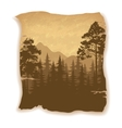 Landscape Trees and Mountains vector image vector image