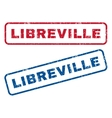 Libreville Rubber Stamps vector image vector image