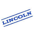 Lincoln Watermark Stamp vector image vector image