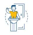 man brushing teeth near sink in bathroom isolated vector image