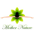 mother nature dancing in a floral dress vector image vector image