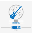 Musical instruments logos and badges Graphic vector image
