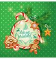 New Year Holiday greeting Card with xmas gingerbre vector image