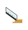 office staircase isolated office wooden staircase vector image