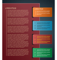 paper infographics design vector image vector image