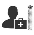 paramedic icon with people bonus vector image