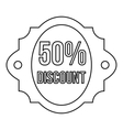 Sale 50 percent off discount lable icon vector image vector image