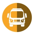 school bus student transport yellow circle vector image