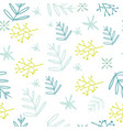 seamless natural elements decorative pattern vector image