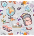 seamless texture on a school theme with image vector image vector image