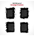 set grunge frames vector image vector image
