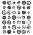 set of 42 gears vector image vector image