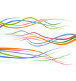 set of abstract color curved lines vector image vector image