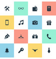 set of simple icons element vector image vector image