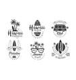 set vintage hawaii logos vector image