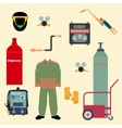 Set Welding Equipment vector image vector image