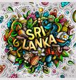 sri lanka hand drawn cartoon doodles vector image vector image