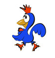 stock blue rooster vector image vector image