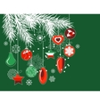 stylized christmas decorations vector image