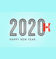 trendy design number 2020 with flag 10eps vector image