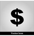 Us dollar icon on grey background vector image vector image