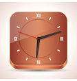 Wooden clock icon vector image vector image