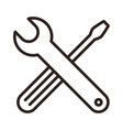 wrench and screwdriver tools icon vector image vector image